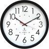 "Chicago Lighthouse 14.5"" Self/Set Quartz Clock - Analog - Quartz - White Main Dial - Black/Polystyrene Case - Contemporary Style"