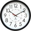 "Chicago Lighthouse 14.5"" Black Electric Wall Clock - Analog - Electric - White Main Dial - Black - Contemporary Style"