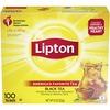 Lipton® Classic Tea Bags - Black Tea - 1.3 oz Per Packet - 100 Teabag - 100 / Box