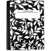 "Sparco College-ruled 80 Sht Composition Notebook - 80 Sheets - 15 lb Basis Weight - 7 1/2"" x 10"" - Bright White Paper - Black Cover Marble - Recycled"