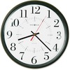 Howard Miller Alton Wall Clock - Analog - Quartz - White Main Dial - Black/Plastic Case - Satin Finish