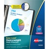 "Avery® Heavyweight Sheet Protectors -Acid-free, Archival-safe, Top-loading - 1 x Sheet Capacity - For Letter 8 1/2"" x 11"" Sheet - Ring Binder - To"