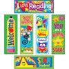 "Trend Reading Fun Bookmark Combo Pack - Fun Theme/Subject - 1.20"" Height x 2"" Width x 6"" Length - Multicolor - 6 / Pack"