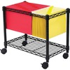 "Safco Wire Mobile File - 300 lb Capacity - 4 Casters - 2"" Caster Size - Steel - x 14"" Width x 24"" Depth x 20.5"" Height - Black - 1 Each"