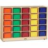"Jonti-Craft Rainbow Accents 25 Cubbie-trays Mobile Storage Unit - 35.5"" Height x 48"" Width x 15"" Depth - Durable - Baltic, Assorted Bin - Acrylic, Rub"