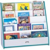 "Jonti-Craft Rainbow Accents Laminate 5-shelf Pick-a-Book Stand - 5 Compartment(s) - 1"" - 27.5"" Height x 30"" Width x 13.5"" Depth - Teal - 1Each"