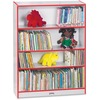 "Jonti-Craft Rainbow Accents 48"" Bookcase - 48"" Height x 36.5"" Width x 11.5"" Depth - Laminated, Rounded Corner, Chip Resistant, Adjustable Shelf - Red"