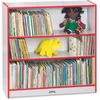 "Jonti-Craft Rainbow Accents 36"" Bookcase - 36"" Height x 36.5"" Width x 11.5"" Depth - Laminated, Rounded Corner, Chip Resistant, Adjustable Shelf - Red"