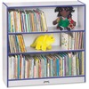 "Jonti-Craft Rainbow Accents 36"" Bookcase - 36"" Height x 36.5"" Width x 11.5"" Depth - Blue - 1Each"