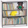 """Jonti-Craft Rainbow Accents 36"""" Bookcase - 36"""" Height x 36.5"""" Width x 11.5"""" Depth - Laminated, Rounded Corner, Chip Resistant, Adjustable Shelf - Blac"""