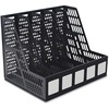 Advantus 5-compartment Magazine/Literature File - 5 Compartment(s) - Desktop - Black - Plastic - 1Each