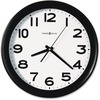 Howard Miller Kenwick Wall Clock - Analog - Quartz - White Main Dial - Black/Plastic Case - Black Finish
