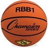 "Champion Sports Size 7 Rubber Basketball Orange - 29.50"" - 7 - Rubber, Nylon - Orange - 24 / Case"