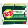 "Scotch-Brite Heavy-Duty Scrub Sponges - 2.8"" Height x 4.5"" Width x 0.6"" Depth - 6/Pack - Green"