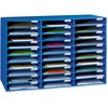 "Classroom Keepers 30-Slot Mailbox - 30 Pocket(s) - Compartment Size 1.80"" x 12.50"" x 10"" - 21"" Height x 31.6"" Width x 12.8"" Depth - Recycled - Blue -"