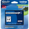 """Brother P-touch TZe Laminated Tape Cartridges - 1/4"""" - White - 1 Each"""
