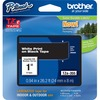 """Brother P-touch TZe 1"""" Laminated Tape Cartridge - 1"""" x 26 1/5 ft Length - Rectangle - Thermal Transfer - White, Black - 1 Each"""