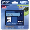 "Brother P-Touch TZe Flat Surface Laminated Tape - Permanent Adhesive - 0.70"" - Thermal Transfer - Blue, Black - 1 Each"