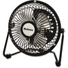 Holmes HNF0410A-BM Mini High-Veloc. Personal Fan - 101.6 mm Diameter - Adjustable Tilt Head - Metal Grille - Black