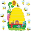 Trend Busy Bees Job Chart Bulletin Board Set - 36 (Bee, Beehive) Shape - Multicolor - 1 Set