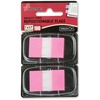 """SKILCRAFT Bright Self-stick Marker Flags - 1"""" x 1.75"""" - Rectangle - Bright Pink - Repositionable, Self-adhesive, Removable - 100 / Pack"""