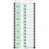 "Lathem Thermal Time Clock Weekly Attendance Cards - 8.25"" x 3.38"" Form Size - White - Black Print Color - 100 / Pack"