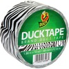 """Duck Brand Brand Printed Design Color Duct Tape - 10 yd Length x 1.88"""" Width - 1 / Roll - Zebra"""