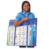 "Carson Dellosa Education Deluxe Bulletin Board Storage Bag - 0.38"" Height x 12"" Width x 27"" Length - Multicolor - Vinyl - 1 Each"