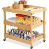 """Early Childhood Resources Birch Hardwood Utility Cart - Natural - 4 Casters - Hardwood, Birch - x 34.5"""" Width x 32.5"""" Depth x 21.3"""" Height - Natural -"""