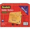 "Scotch Bubble Mailers - Bubble - #5 - 10 1/2"" Width x 16"" Length - Self-adhesive Seal - Kraft Paper - 25 / Carton - Tan"
