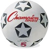 "Champion Sports Rubber Soccer Ball Size 5 - 8.75"" - Size 5 - Rubber, Nylon - Black, White, Red - 24 / Case"