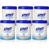 PURELL® Sanitizing Wipes - White - Ethyl Alcohol - Lint-free, Durable, Textured, Individually Wrapped - For Travelling, Food Service, Healthcare,