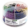 Officemate Color Coated Clips, PVC Free, 450/PK, Ast/Metallic