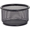 "Lorell Black Mesh/Wire Paper Clip Holder - 3.8"" x 2.1"" x - Steel - 1 Each - Black"