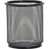 "Lorell Black Mesh/Wire Pencil Cup Holder - 3.5"" x 3.9"" x - Steel - 1 Each - Black"