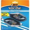Wite-Out Brand EZ Grip Correction Tape - 33.50 ft Length - 1 Line(s) - White Tape - Rubber Grip - 2 / Pack - White