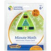 Learning Resources Minute Math Electronic Flash Card - Skill Learning: Equation Solving, Visual Processing, Audio Feedback, Addition, Subtraction, Mul
