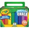 "Crayola Washable Sidewalk Chalk - 4"" Length - 0.9"" Diameter - Assorted - 48 / Box"
