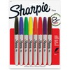 Sharpie Fine Point Permanent Marker - Fine Marker Point - Assorted Alcohol Based Ink - 8 / Pack
