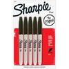 Sharpie Fine Point Permanent Marker - Fine Marker Point - Black Alcohol Based Ink - 5 / Pack