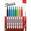 Sharpie Retractable Ultra Fine Point Permanent Marker - Ultra Fine Marker Point - Retractable - Aqua, Black, Blue, Green, Lime, Red, Tangerine, Turquo
