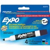Expo Low Odor Markers - Bullet Marker Point Style - Black, Blue, Red, Green - 4 / Set