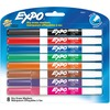 Expo Low-Odor Dry-erase Fine Tip Markers - Fine Marker Point - Black, Blue, Turquoise, Aqua, Green, Lime, Pink, Red - 8 / Set