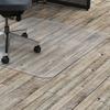 "Lorell Hard Floor Rectangler Polycarbonate Chairmat - Hard Floor, Vinyl Floor, Tile Floor, Wood Floor - 60"" Length x 46"" Width x 0.13"" Thickness - Rec"