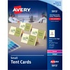 "Avery® Laser, Inkjet Tent Card - 2"" x 3 1/2"" - 160 / Pack - Ivory"