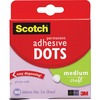 """Scotch Adhesive Dots - 0.30"""" Length x 0.30"""" Width - Dispenser Included - 300 / Box - Clear"""