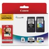 Canon PG-240XL/CL-241XL/GP-502 Original Ink Cartridge/Paper Kit - Combo Pack - Black, Tri-color - Inkjet - High Yield - 2 / Pack