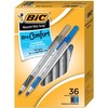 BIC Round Stic Grip Ballpoint Pen - Medium Pen Point - 1.2 mm Pen Point Size - Assorted - Assorted Barrel - Brass Tip - 36 / Box