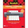 "Scotch Thermal Laminating Pouches - Sheet Size Supported: Letter 3 mil Thickness - Laminating Pouch/Sheet Size: 9"" Width x 11.50"" Length x 3 mil Thick"