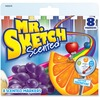 Mr. Sketch Scented Watercolor Markers - Bevel, Chisel Marker Point Style - Black, Blue, Green, Orange, Brown, Purple, Red, Yellow - 8 / Set